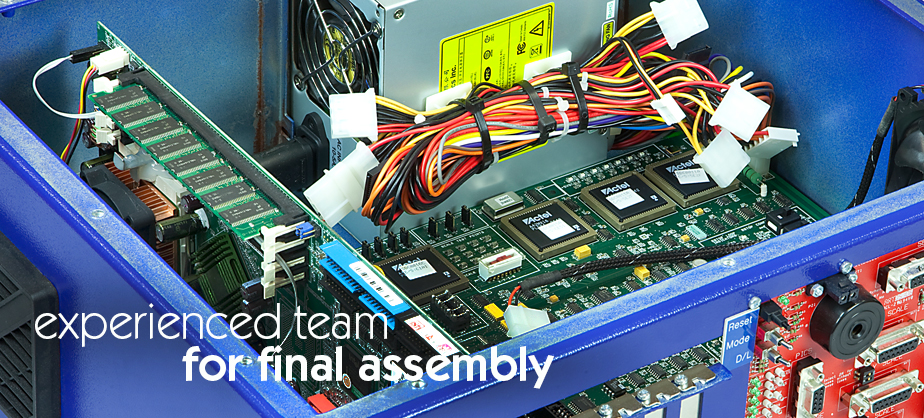 Experienced team for final assembly